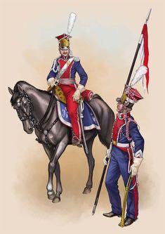 Ufficiale e lanciere polacchi della guardia imperiale francese