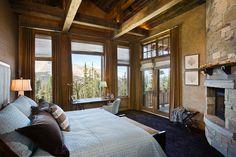 Fireplace in the master bedroom in the corner, so leave room for double-doors leading to balcony    (e.g. Master Bedroom of Andesite, Four Peaks and Ontario residences)