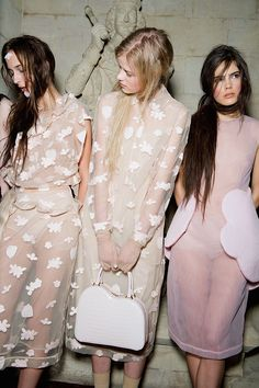 fairylike tulle backstage at Simone Rocha F/W 2015-2016