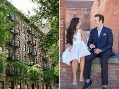 Urban Spring Engagement Session in New York City | Images by Captured Photography by Jenny | Via Modernly Wed | 22