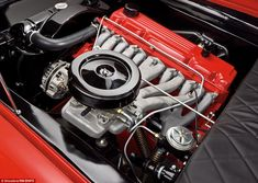 Power generator: The Plymouth is equipped with a 200hp six-cylinder engine check out the cast dual exhaust manifolds. They look completely different than Dutra's