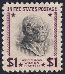 1938 $1 Woodrow Wilson, Purple & Black Scott 832 Mint F/VF NH