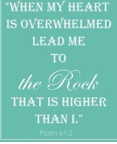Psalm 61:2  to the Rock