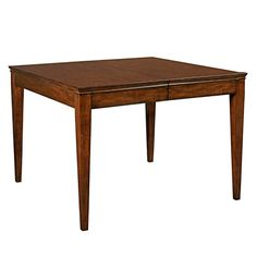 """Elise Leg Table for dining room. Two 20"""" leaves W42 x D42 x H30 (with no leaves) W42 x D62 x H30 (with one leaf) W42 x D82 x H30 (with two leaves)"""