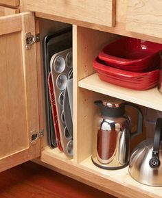 Organization tips for your kitchen to turn empty space into useful storage.