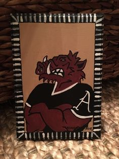 Arkansas Razorback Painting New Signed and Licensed | eBay