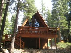Wildwood Cabin- is a cozy peaceful dog friendly vacation cabin located on the North Shore of Lake Tahoe.  It is at the end of a private road with a creek nearby and large deck to enjoy the wonderful sounds and smells of Tahoe.