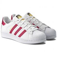 1f7585e02e Buty adidas - Superstar Foundation J B23644 Ftwwht Bopink Ftwwht -  Sneakersy - Półbuty