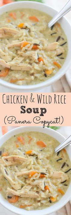 Chicken and Wild Rice Soup - Panera copycat recipe! This recipe is so easy and takes less than an hour to prepare!