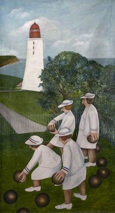 Bowlers off the Hoe Beryl Cook Plymouth City Council: Museum and Art Gallery Bristol Museum, Glasgow Museum, Beryl Cook, English Artists, British Artists, Portraits, Art Uk, Naive Art, Your Paintings