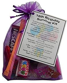 unique keepsake to make the recipient giggle. 30th Birthday Survival Kit