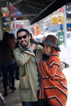 Visvim designer Hiroki Nakamura and his wife Kelsi