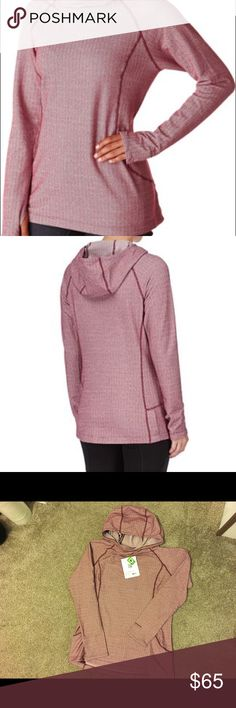 Patagonia Women's Active Herringbone Hoody Patagonia Women's Active Herringbone Hoody new with tags. Oxblood red herringbone hoody is a light hoody for cool days! Hidden hip pocket fits keys and credit cards. Thumb holes, princess seams make for a comfortable fit. Patagonia Tops Sweatshirts & Hoodies