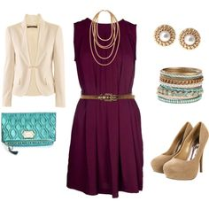 Classy. I'm not big on the accessories but I love the dress and shoes!