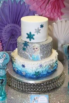 Amazing Elsa cake at a Frozen birthday party! See more party planning ideas at CatchMyParty.com! by leigh