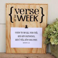 Verse of the Week Board DIY Vinyl Decal by SimpleFaithShop on Etsy