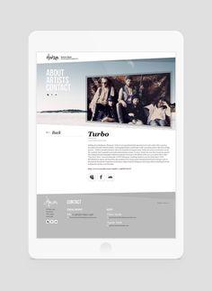 Horizon Music Bookings - Website Design on Behance Polaroid Film, Website, Music, Artist, Movie Posters, Behance, Projects, Design, Baking