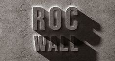 FREE - This is an impressive concrete photoshop rock text effect that allows you to transform through smart layers any design into an engraved ston...
