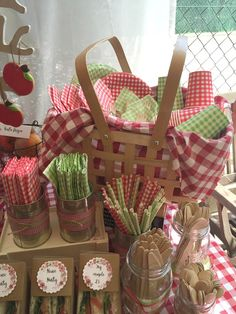 Fiesta picnic al aire libre, ideas. Picnic Birthday, 1st Birthday Parties, Masha Et Mishka, Picnic Themed Parties, County Fair Birthday, Red Riding Hood Party, Indoor Picnic, Picnic Decorations, Italian Party