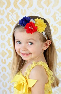 Princess headband, Princess bow, Snow White headband, baby headband, girls bow, infant, toddler, girl, Hairband Birthday cake smash