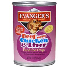 Evanger's Beef with Chicken & Liver is Grain-Free and Gluten-Free, and makes a great complement to our Super Premium and Grain Free dry foods. It can also be mixed with Evanger's canned Vegetarian Dinner to make a complete, balanced, and very nutritious diet. Beef with Chicken & Liver is endorsed by the cRc Kosher for Passover