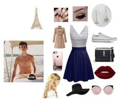 """""""Paris with Hayes"""" by jacobsartorius2002 on Polyvore featuring Cara, Casetify, Miss Selfridge, Converse, Yves Saint Laurent, Lime Crime, Fendi, San Diego Hat Co. and ASOS"""