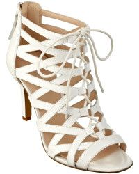 Nine West Authority Caged Peep Toe Booties - Lyst