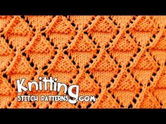 How to knit the Stockinette and Garter Diamonds Lace stitch. Follow along and see how easy it is to knit. ++ For detailed written instructions, see: http://w...