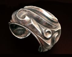 High Relief Eastern Repoussé Cuff Bracelet Sterling Silver // Victoria Lansford // #jewelrydesign