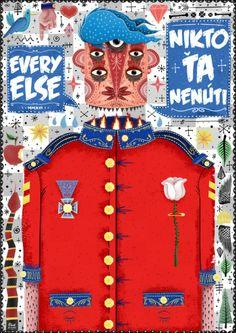 Every Else by Dávid Kurňavka, via Behance Fluent English, Melancholy, Dear Friend, Things That Bounce, Owl, David, Illustration, Projects, Behance
