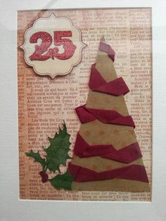 Christmas tree mixed media art - Christmas in July swap ORGANIZED CRAFT SWAPS on Craftster.org