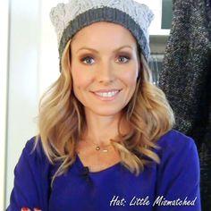 Kelly's warm winter hat by Little Mismatched #FashionFinder #KellyandMichael http://dadt.com/live/fashion-finder.html