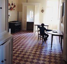 Mimi Thorisson's kitchen, love the lovely worn tile floor African Hut, Mimi Thorisson, Tile Floor, 1, Cottage, France, Flooring, House, Inspiration