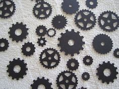 Mechanical Gears Steampunk Confetti Party Decor Scrapbook Embellishment 100 pc Color Options on Etsy, $8.00