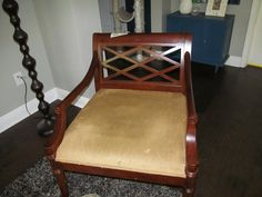 BoringBrownClubChair I -- See ModernChic Make Over for updated version -- OneFabRoom by TT
