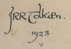"Looking at snippets of the penmanship that came from J.R.R. Tolkien's hand, you'd think these lines could have been written in the ""strong but graceful script"" of Gandalf hi…"