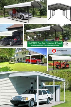 Check out our selection of Carports that are available in different sizes and styles.