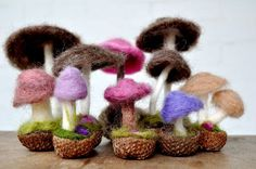 How to make a needle felted Mushroom
