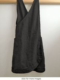 south st linen - black pinnie