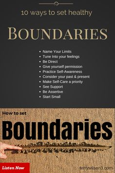 10 ways you can set healthy boundaries in your personal and professional life. Boundaries Quotes, Personal Boundaries, Toxic Relationships, Healthy Relationships, Marriage Tips, Relationship Advice, Codependency Recovery, Setting Boundaries, Assertiveness