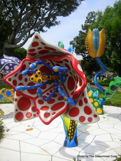"""""""Tulips"""" by Yayoi Kusama - Beverly Hills, CA"""