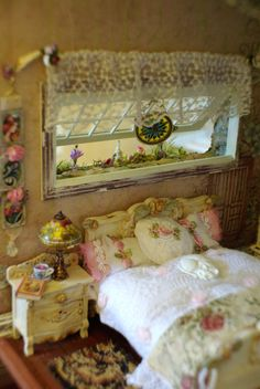 Ooak Miniature English Cottage House with by KammysCreations. Sigh. Way too pretty and expensive to play with.