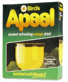 Appeal orange juice. It was powdered orange juice that you just added water to and one sachet made a jug full.