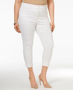 449a5c13ad5 Melissa McCarthy Seven7 Trendy Plus Size Cropped Pencil Jeans   Reviews -  Jeans - Plus Sizes - Macy s