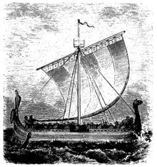 Além de permitir que os vikings navegassem longas distâncias, seus navios dragão (drakar) traziam vantagens tácticas em batalhas. Eles podiam realizar eficientes manobras de ataque e fuga, nas quais atacavam rápida e inesperadamente, desaparecendo antes que uma contra-ofensiva pudesse ser lançada. Os navios dragão podiam também navegar em águas rasas, permitindo que os vikings entrassem em terra através de rios