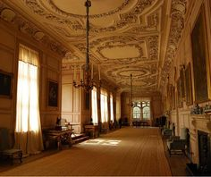 The Long Gallery, Sudbury Hall    National Trust property, Ashbourne, Derbyshire...  From...  http://a-l-ancien-regime.tumblr.com/#