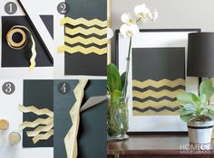 Chevron Art using Shape Tape