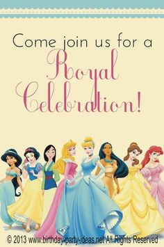 Disney Princess Birthday Party #disney princess #birthday #party #themed #princess #aurora #cinderella #beauty and the beast #mulan #snow white #jasmine #aladin #little mermaid
