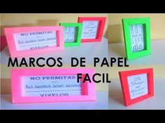 Hazlo Tu Mismo Marcos O Cuadros De Papel - Fácil - YouTube Soloing, Shadow Box, Quilling, Origami, Scrapbook, Youtube, Projects, Cards, Diy