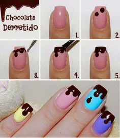 Dripp Color Nail Art Tutorial Step By Step - Toronto, Calgary, Edmonton, Montreal, Vancouver, Ottawa, Winnipeg, ON